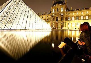 Bảo tàng Lourve về đêm
