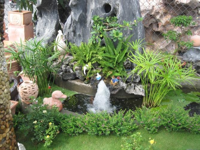 Wedo thiết kế tiểu cảnh sân vườn đẹp với đá