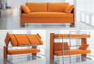 Ghế sofa chuyển đổi thành giường - không gian linh hoạt