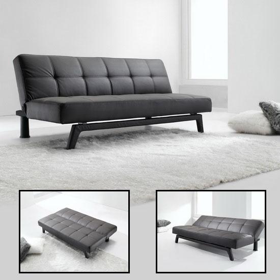 Ghế sofa giường bằng da cho không gian linh hoạt