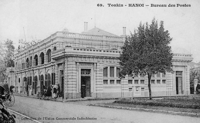 Bưu điện Hà nội xưa - ảnh chụp đầu thế kỷ 20