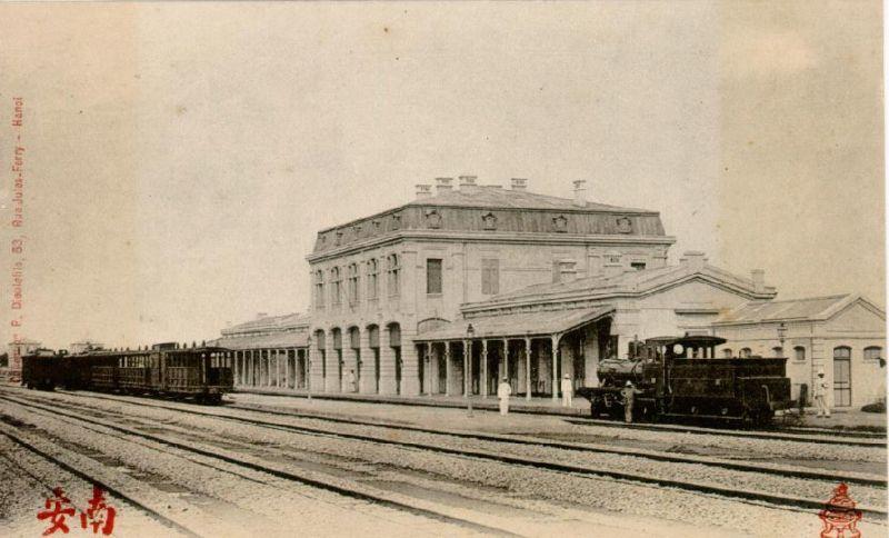 Ga Hà nội xưa nhìn từ bên trong - ảnh chụp Hà nội đầu thế kỷ 20