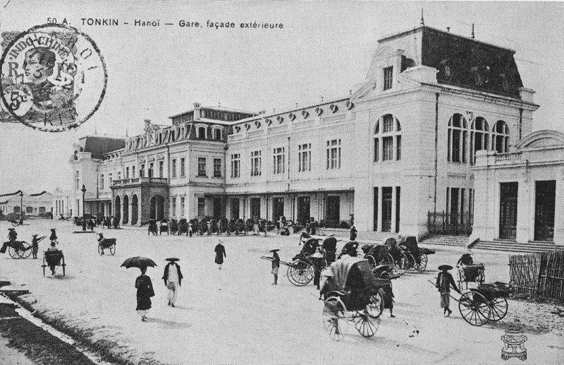 Ga Hà nội xưa nhìn từ bên ngoài - ảnh chụp Hà nội đầu thế kỷ 20