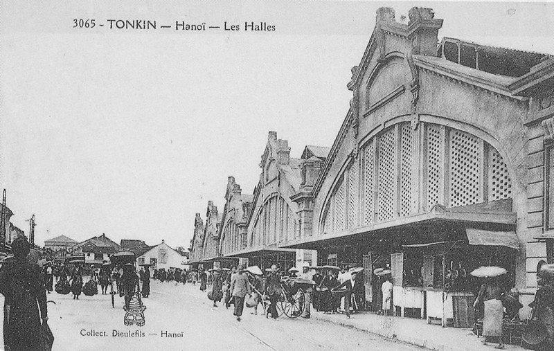 Chợ Đồng xuân xưa - ảnh chụp Hà nội đầu thế kỷ 20