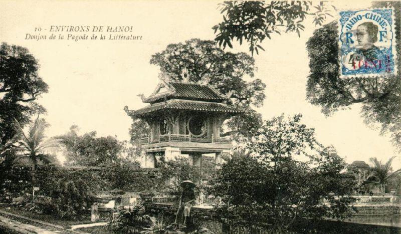Vọng Lâu Các - Văn miếu xưa - ảnh chụp Hà nội đầu thế kỷ 20