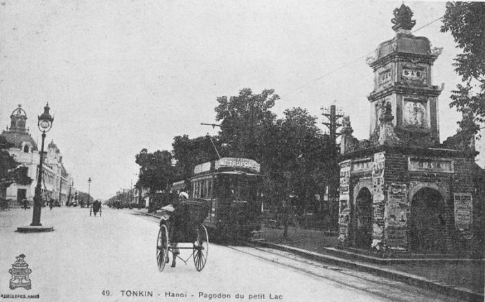 Tháp Hòa phong xưa - ảnh chụp Hà nội đầu thế kỷ 20