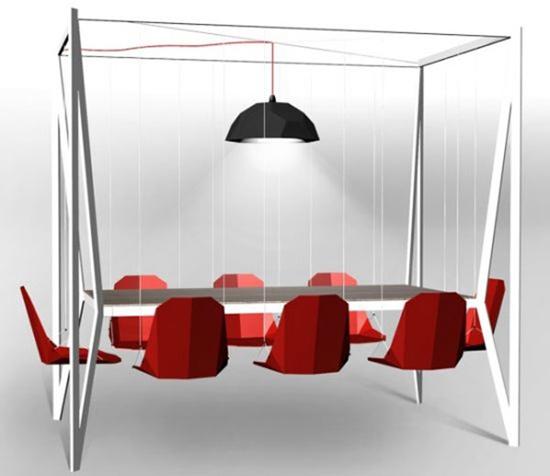 Bộ bàn có thiết kế dành cho 8 người.