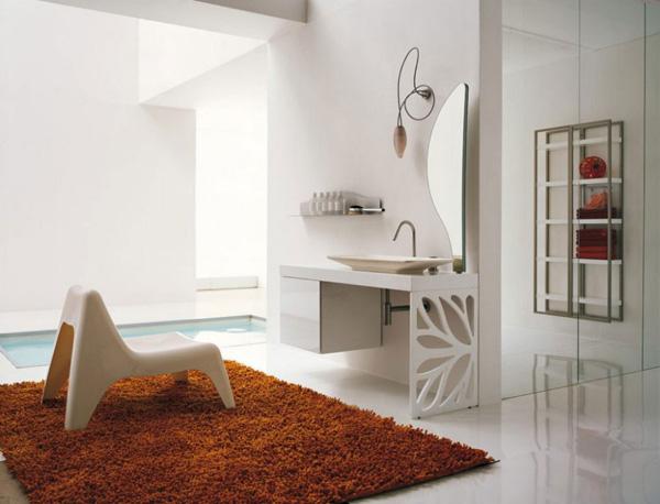 Thảm trải sàn giúp tăng nhiệt cho phòng tắm.