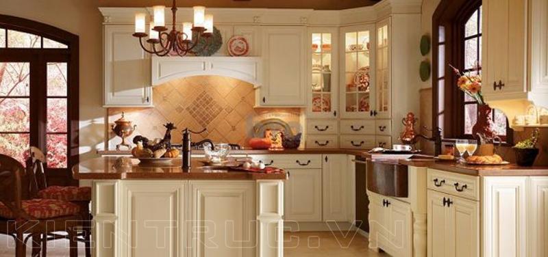 Tủ bếp chữ G đẹp mang phong cách Châu Âu