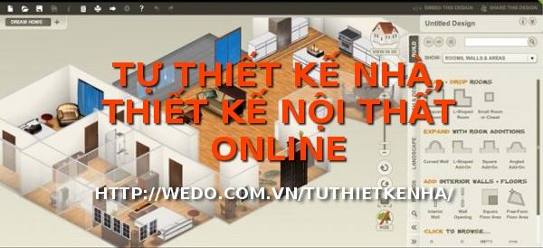 Tự thiết kế nhà, thiết kế nội thất online