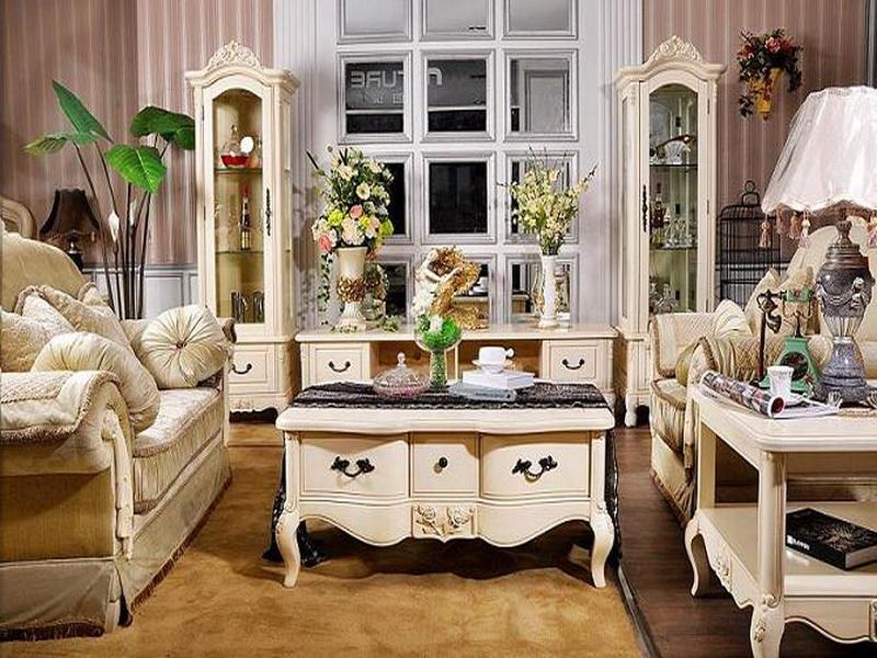 Nội thất phòng khách phong cách Pháp