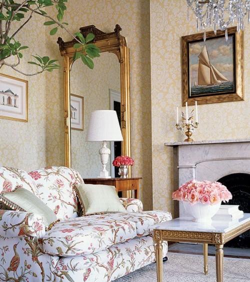 Nội thất phòng khách phong cách Pháp đẹp