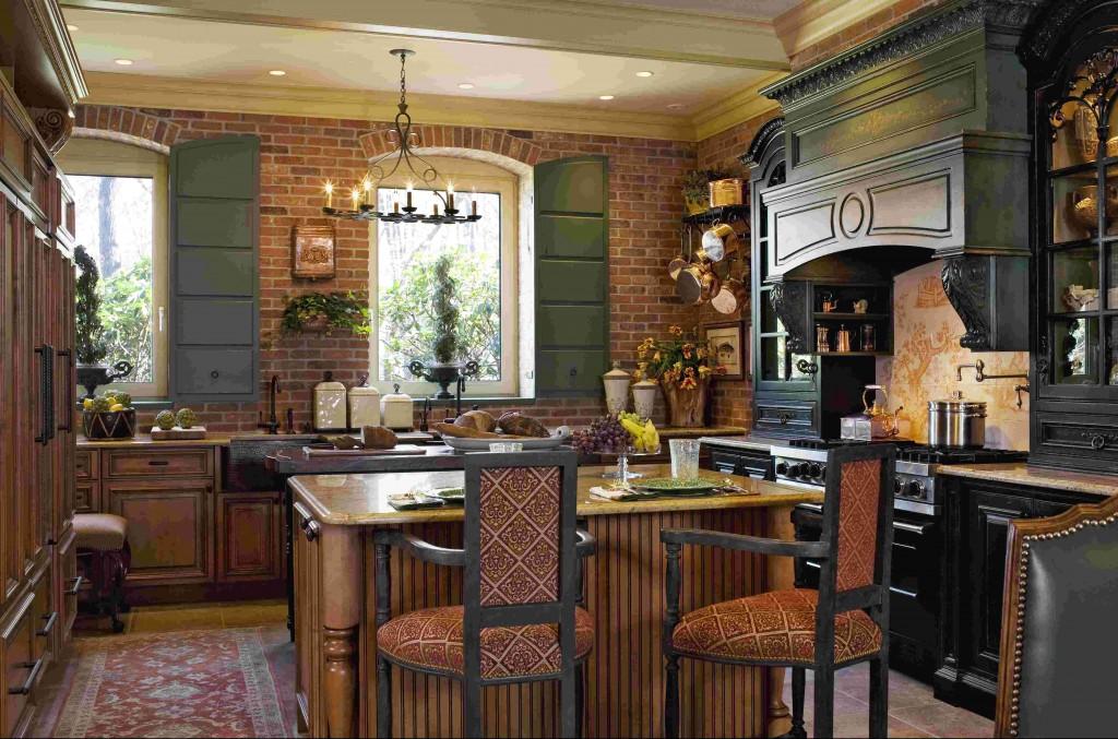 Nội thất nhà bếp phong cách Pháp sang trọng