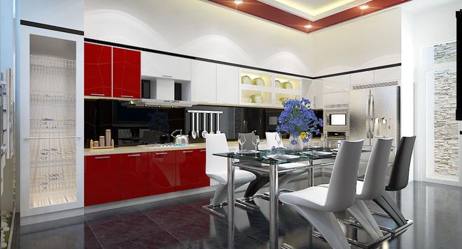Bếp đen- trắng- đỏ