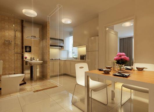 Bếp và wc cc