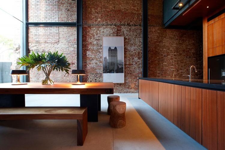 Phòng ăn gạch mộc 2