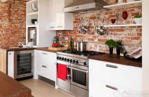Phòng bếp gạch mộc 1