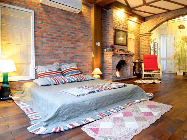 Phòng ngủ gạch mộc 1