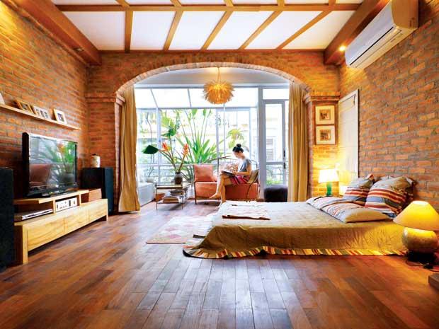 Phòng ngủ gạch mộc 2