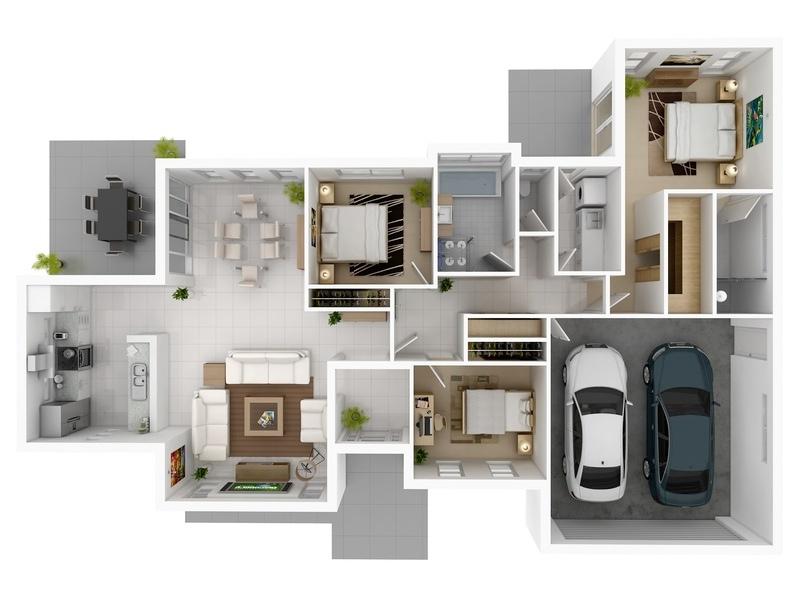 Mẫu chung cư 3 phòng ngủ hiện đại