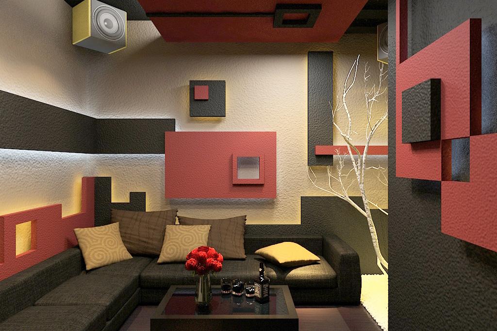 Nội thất đẹp và hiện đại cho phòng giải trí