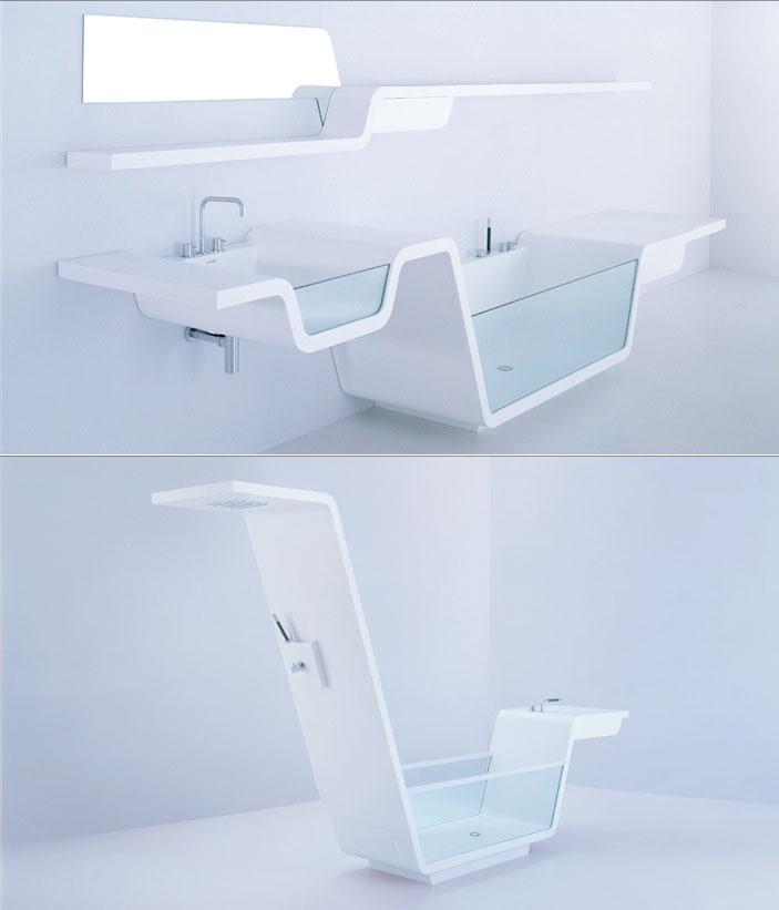 Bồn rửa và bồn tắm độc đáo, lạ mắt