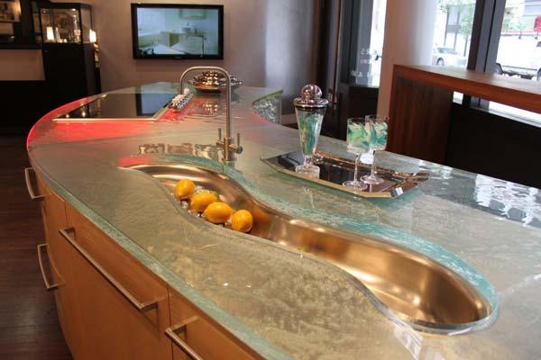 Mau ban bep dep 1 Chia sẻ 22 Mẫu bàn KÍNH đẹp lung linh cho không gian bếp nhà bạn