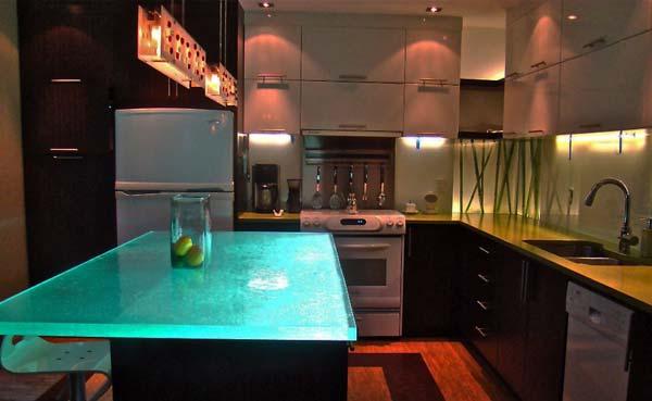 Mau ban bep dep 10 Chia sẻ 22 Mẫu bàn KÍNH đẹp lung linh cho không gian bếp nhà bạn