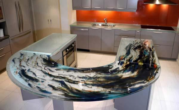 Mau ban bep dep 11 Chia sẻ 22 Mẫu bàn KÍNH đẹp lung linh cho không gian bếp nhà bạn