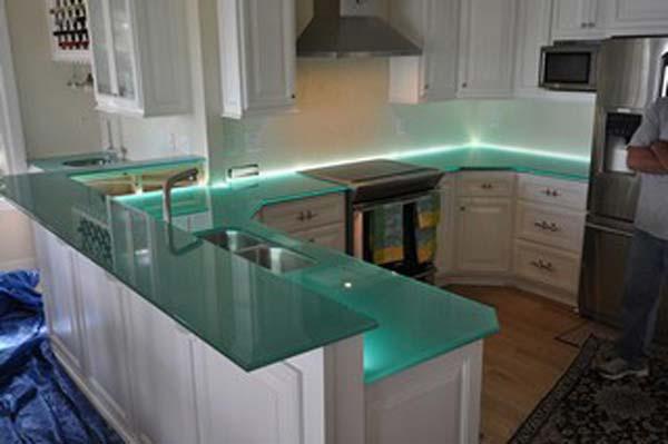 Mau ban bep dep 12 Chia sẻ 22 Mẫu bàn KÍNH đẹp lung linh cho không gian bếp nhà bạn