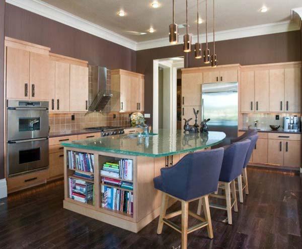 Mau ban bep dep 13 Chia sẻ 22 Mẫu bàn KÍNH đẹp lung linh cho không gian bếp nhà bạn