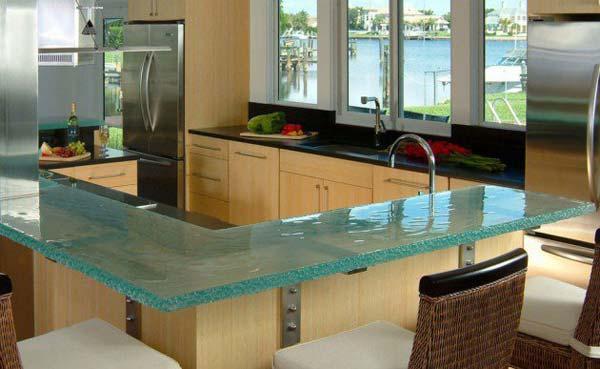Mau ban bep dep 14 Chia sẻ 22 Mẫu bàn KÍNH đẹp lung linh cho không gian bếp nhà bạn