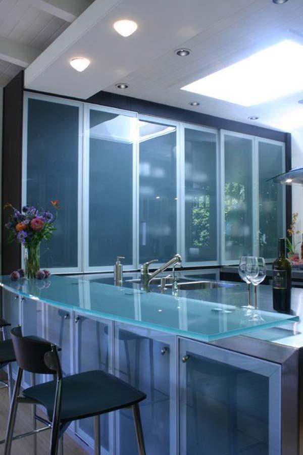 Mau ban bep dep 16 Chia sẻ 22 Mẫu bàn KÍNH đẹp lung linh cho không gian bếp nhà bạn