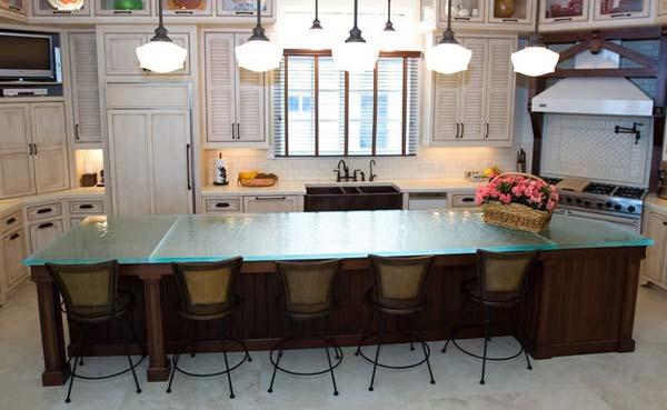 Mau ban bep dep 17 Chia sẻ 22 Mẫu bàn KÍNH đẹp lung linh cho không gian bếp nhà bạn