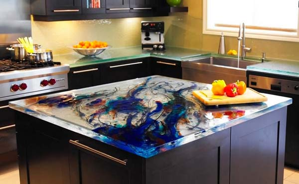 Mau ban bep dep 2 Chia sẻ 22 Mẫu bàn KÍNH đẹp lung linh cho không gian bếp nhà bạn