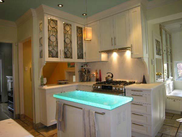 Mau ban bep dep 20 Chia sẻ 22 Mẫu bàn KÍNH đẹp lung linh cho không gian bếp nhà bạn