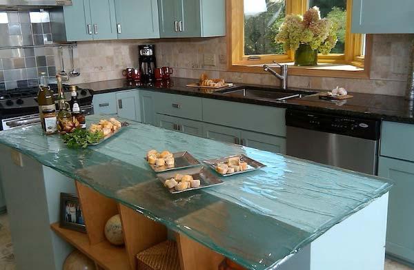 Mau ban bep dep 3 Chia sẻ 22 Mẫu bàn KÍNH đẹp lung linh cho không gian bếp nhà bạn