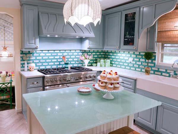 Mau ban bep dep 5 Chia sẻ 22 Mẫu bàn KÍNH đẹp lung linh cho không gian bếp nhà bạn