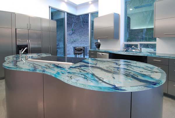Mau ban bep dep 6 Chia sẻ 22 Mẫu bàn KÍNH đẹp lung linh cho không gian bếp nhà bạn