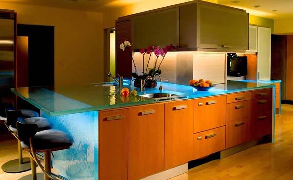 Mau ban bep dep 7 Chia sẻ 22 Mẫu bàn KÍNH đẹp lung linh cho không gian bếp nhà bạn