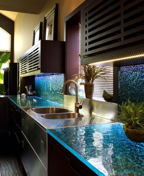 Mau ban bep dep 8 Chia sẻ 22 Mẫu bàn KÍNH đẹp lung linh cho không gian bếp nhà bạn