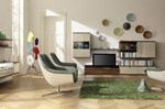 Phòng khách đơn giản phong cách Á Đông