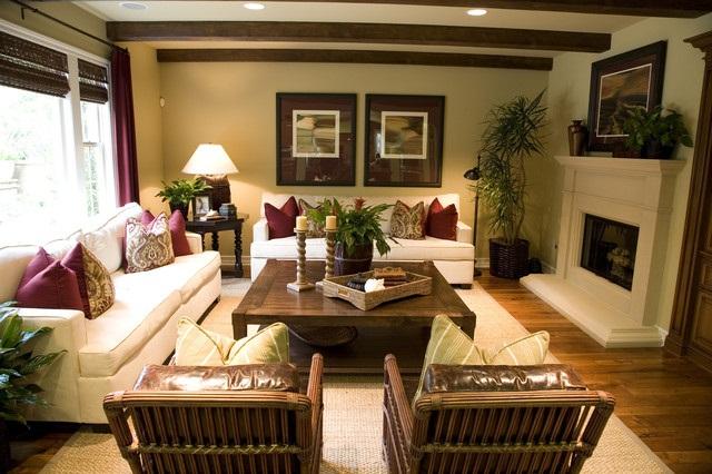 Phòng khách phong cách nhiệt đới cho nhà hiện đại