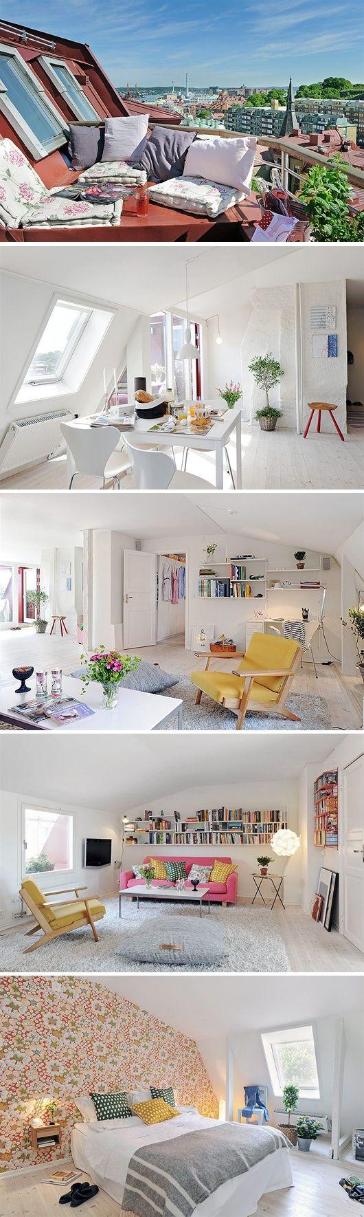 Thiết kế phòng đẹp và tiện lợi cho gác xép