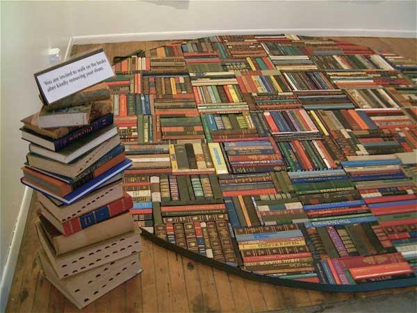 Thiết kế nội thất độc đáo từ sách
