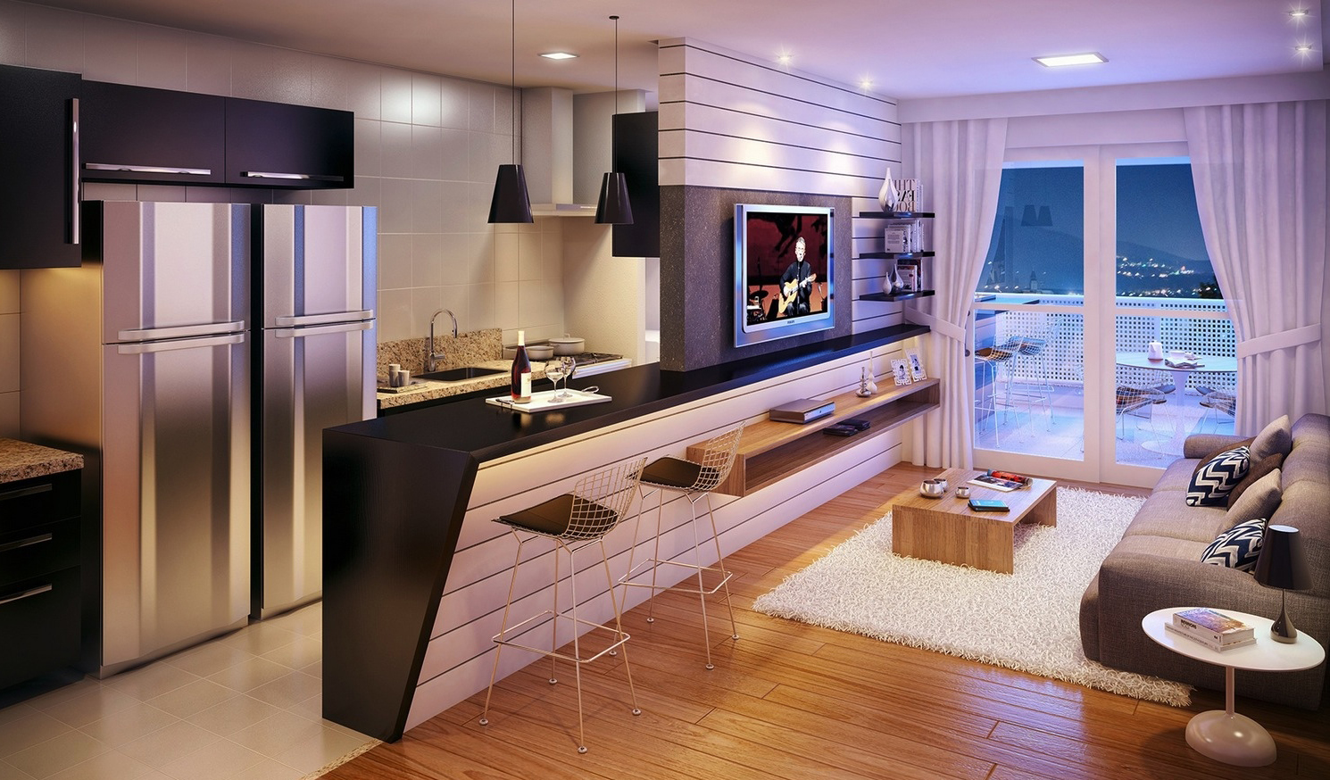Thiết kế không gian mở sang trọng cho nhà đẹp