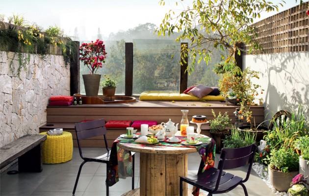Wedo thiết kế góc thư giãn đẹp cho sân thượng