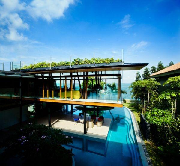 Wedo thiết kế mái nhà đẹp, ấm áp với cây xanh và cỏ