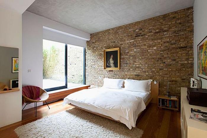 Mảng tường màu đất ấm