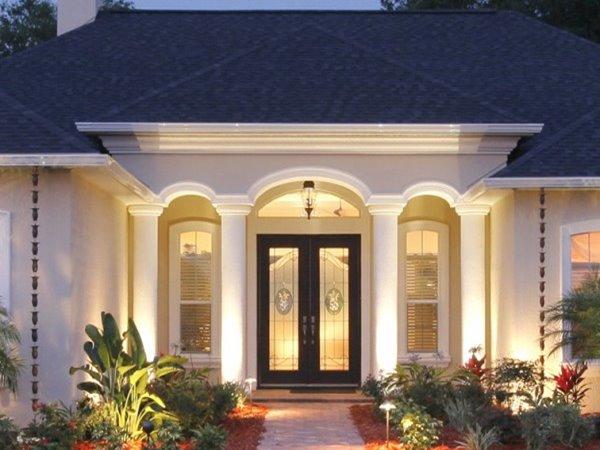 Wedo thiết kế không gian ngoại thất trước cửa nhà đẹp và sang trọng
